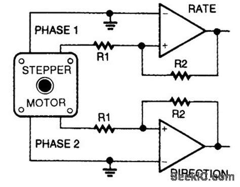Stepper Motor Shaft Encoder Analog Circuit Basic