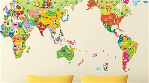 Download World Map Wallpaper Kids Room Gallery