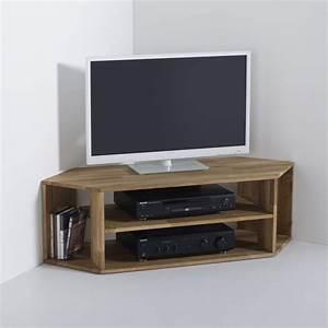 Table Pour Tv : meuble tv d 39 angle ch ne massif edgar ch ne la redoute ~ Teatrodelosmanantiales.com Idées de Décoration