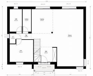 Plan Maison A Etage : plan maison individuelle 3 chambres 72 habitat concept ~ Melissatoandfro.com Idées de Décoration