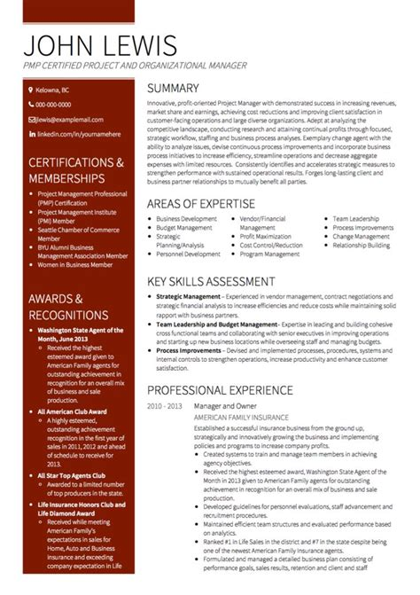 Project Manager Resume Template 2017 by Project Manager Cv Exles And Template