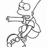 Bart Simpson Drawing Slingshot sketch template
