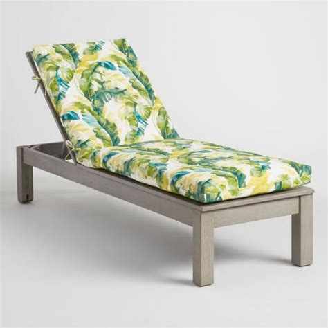 green palm outdoor chaise lounge cushion world market