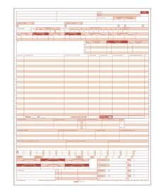 Billing Sheet Template Ub 04 Hospital Claim Form Laser Format