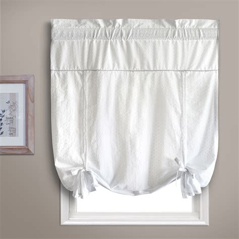 united curtain company dorothy 40 quot x 63 quot tie up shade in