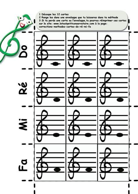 si鑒e pour piano cartes pour apprendre les notes de musique do re mi fa piano musique et note