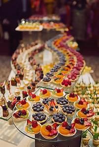 display unique wedding food colorful desserts
