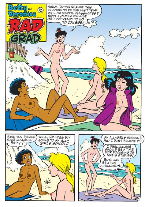 Rule 34 4girls Archie Comics Beach Betty And Veronica
