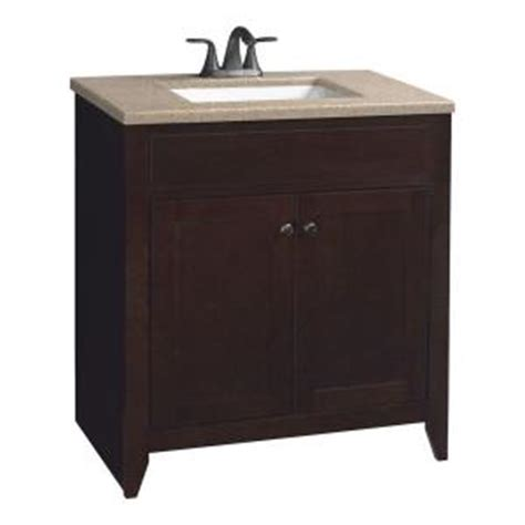glacier bay modular 30 1 2 in vanity in java with solid
