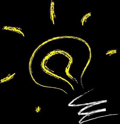 Vector Light Bulb Idea Clip Art