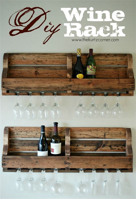 how to make a wine rack out of a pallet the kurtz corner diy rustic wine rack