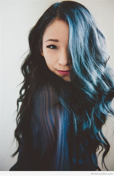 Dark Blue Hair Color Idea