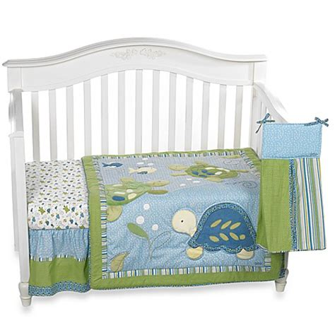 turtle crib set buy cocalo baby 174 turtle reef 8 crib bedding from bed