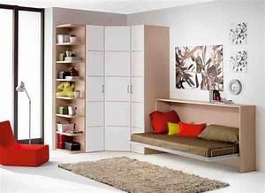 Zimmerfarben Für Jugendzimmer : kleines jugendzimmer einrichten junge klappbett ecke kleiderschrank for kids pinterest ~ Markanthonyermac.com Haus und Dekorationen