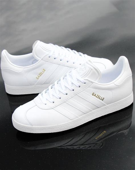 Adidas Gazelle Classic Leather White Trainer   80s casual ...