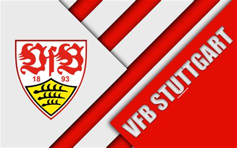 Download Wallpapers Vfb Stuttgart Fc, 4k, Material Design