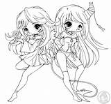 Coloring Yampuff Pages Lineart Chibi Deviantart Anime Halloween Sheets Suii Iish Colouring Chibis Skunk Disney Commission Princess Pretty Cool Devil sketch template