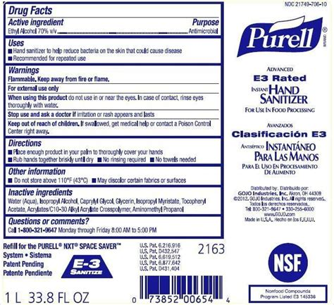 PURELL Advanced E3 Rated Instant Hand Sanitizer (liquid ...