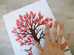 Bricolage Automne Primaire : tutoriel diy cr er un arbre empreintes via tutoriel diy empreinte et cr er ~ Dode.kayakingforconservation.com Idées de Décoration