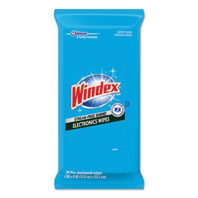 Windex® Electronics Cleaner Wipes (25 Wipe Packs) - Case of 12