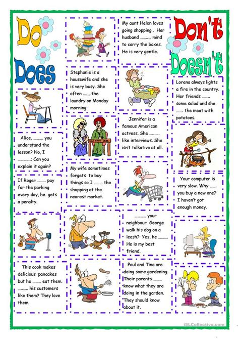 Do, Does, Don't, Doesn't Worksheet  Free Esl Printable Worksheets Made By Teachers