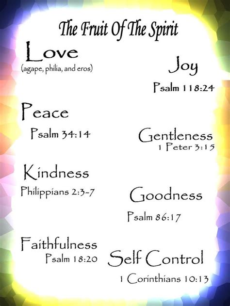 17 Best Images About Fruit Of The Spirit On Fruits Of The Holy Spirit Scripture