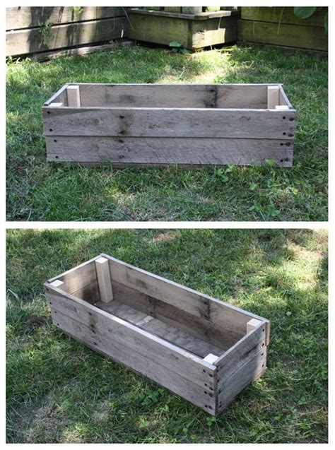 10 ideas about pallet planter box on pallet