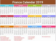 annual France Calendar 2019 printcalendarxyz