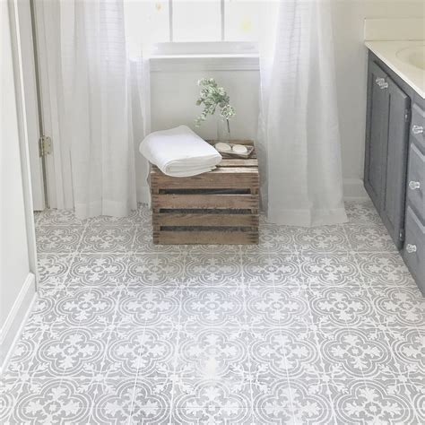 Floor Lino Bathroom by How To Paint Your Linoleum Or Tile Floors To Look Like