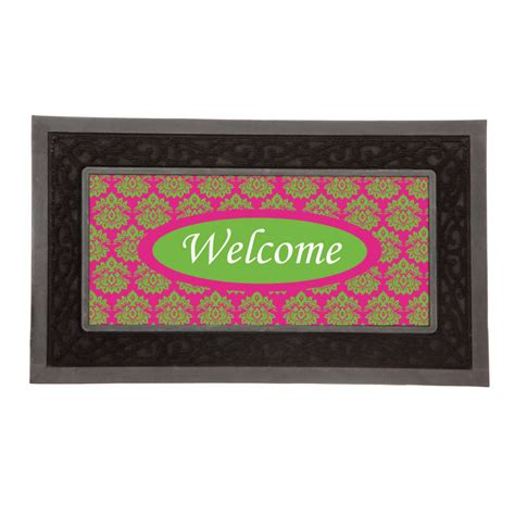 Doormat Inserts by Doormat Insert Poly Burlap For Sassafras Tray Quot Welcome