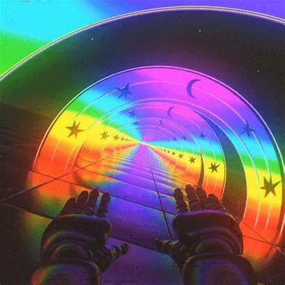 Trippy Aesthetic Rainbow Psychedelic Animated Wallpapers Void