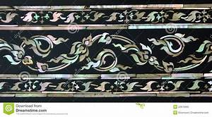 Mother Of Pearl Inlay Thai Floral Art Royalty Free Stock