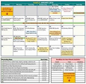 marketing calendar template With digital marketing calendar template
