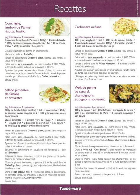recette boursin cuisine recette tupperware recettes penne pâtes