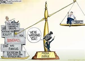 Media Bias for Christie | A.F.Branco | Conservative Cartoon