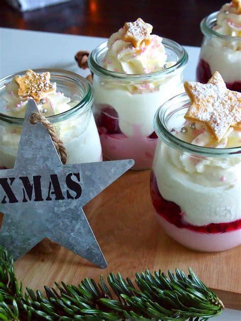 dessert für weihnachten diezuckerb 228 ckerei himbeer mascarpone dessert zu weihnachten