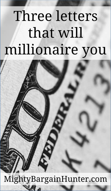 Three Letters That Will Millionaire You  Mighty Bargain