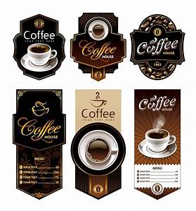 coffee labels collection vector premium download With coffee cup labels