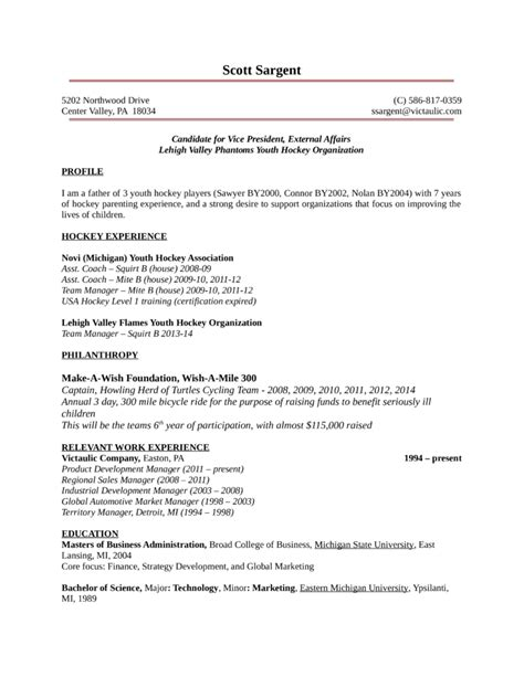 one page youth development manager resume template