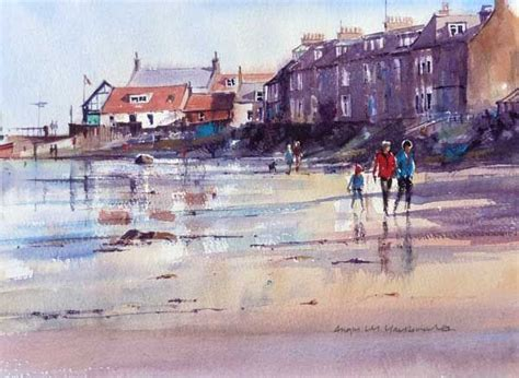 berwick north beach watercolour paintings walk angus macdonald scotland oil