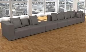 Garnitur U Form : wohnlandschaft 6 teile modulares sofa xxl u form l form garnitur alcantara look ebay ~ Indierocktalk.com Haus und Dekorationen