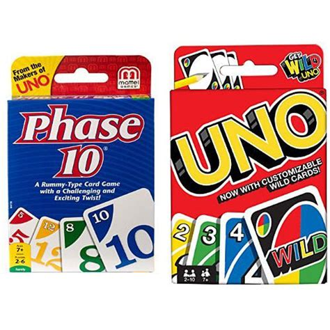 Enjoy this free app to learn and play ten, an exciting new card game that will provide you hours and hours of fun! Phase 10 Card Game and uno Card Game Bundle - Mattel
