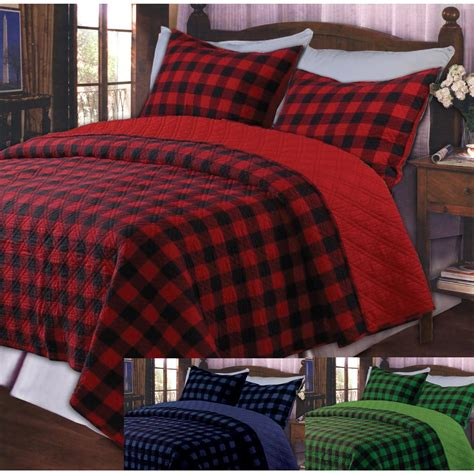 greenland home fashions 174 quot western red plaid quot bedding set