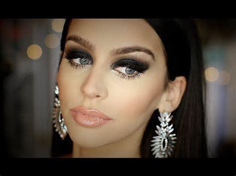 black smokey eye full face makeup tutorial heavy glam youtube