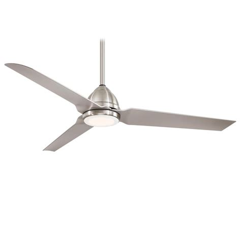outdoor ceiling fans with led lights minka aire f753l bnw java 1 led light 54 inch outdoor