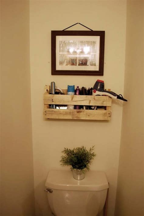 white shelf for bathroom 27 beautiful diy bathroom pallet projects for a rustic