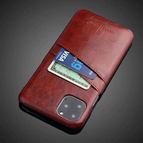 The iphone 11 pro cases will help keep your new, expensive iphone protected. Slim Hard Leather Card Holder Case for iPhone 11/11 Pro/11 Pro Max - iLounge Shop