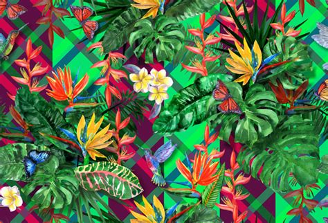 shop exotic plants seamless wallpaper  abstract theme