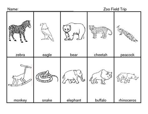 number names worksheets 187 zoo animal worksheets free