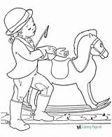 Coloring Pages Horse Horses Rocking Printable Print Animal Printing Help sketch template